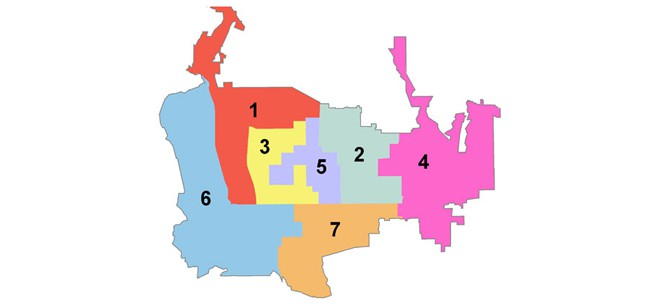 City Council Districts Map