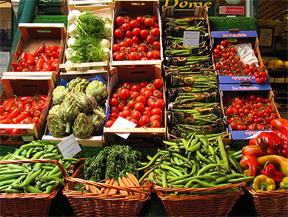 Fruits and Veggies Displayed