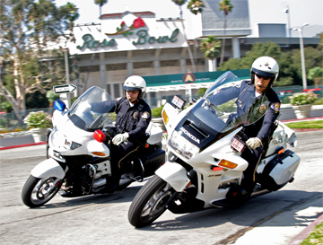 Pasadena Police motorcycles at Rose Bowl