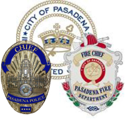 Police and Fire badge joint logo
