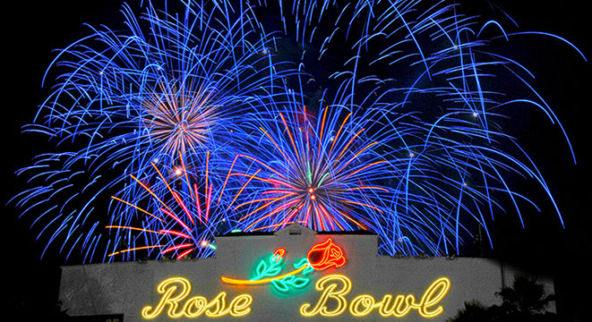 Rose Bowl Fireworks image