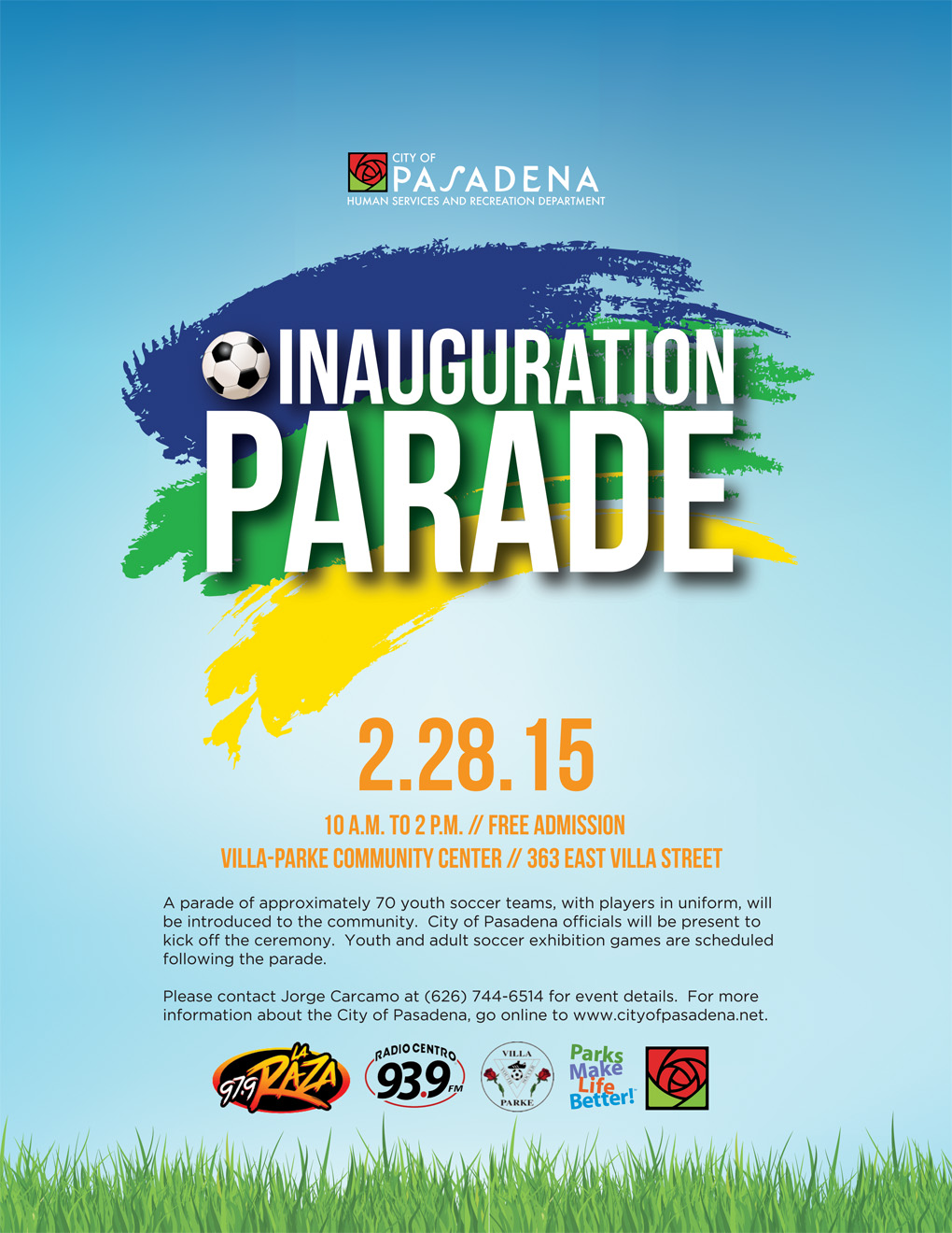 public invited to opening day parade exhibition games for youth