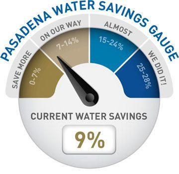 Water Use Gauge 9%