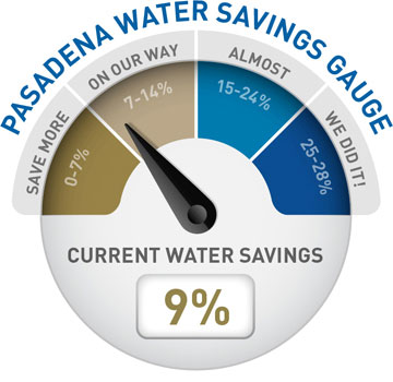 Water Use Gauge 9%