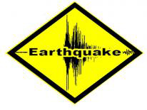 Earthquake Warning Sign logo