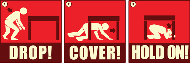 Drop Cover Hold On graphic