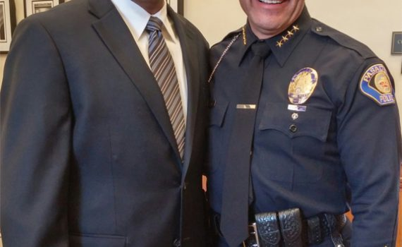 Fire Chief Washington and Police Chief Sanchez