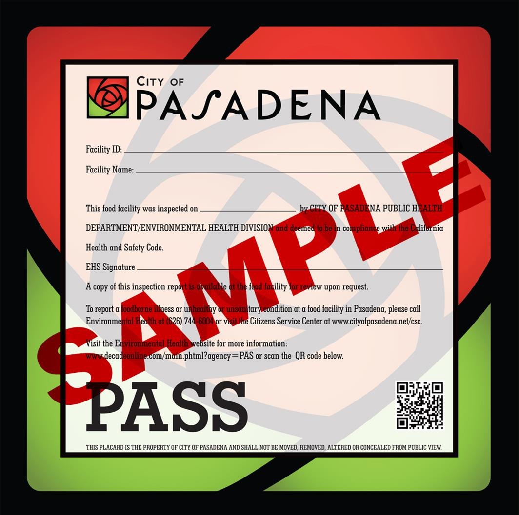 Health Food Inspection 2014-PASS