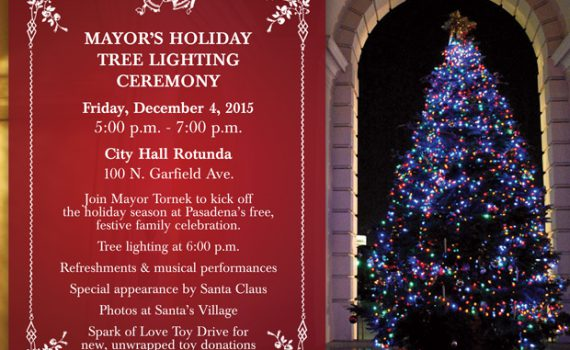 Mayor's Holiday Tree Lighting Ceremony 2015 Postcard