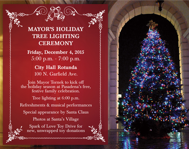 Mayor's Holiday Tree Lighting Ceremony 2015 Postcard