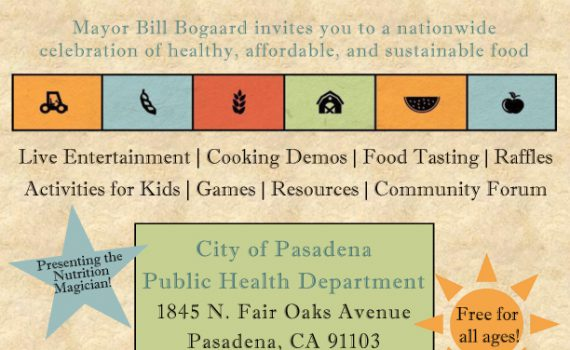 Pasadena Public Health Dept Food Day 2014 in English