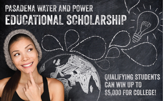 Pasadena Water and Power Educational Scholarship Earth-Lightbulb image