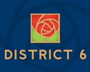District 6 Rose Logo