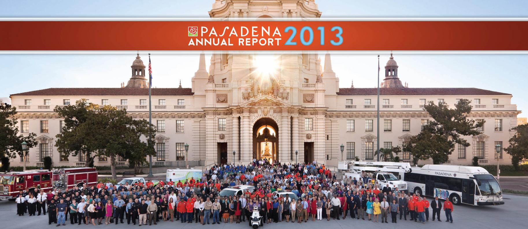 City of Pasadena 2013 Annual Report graphic