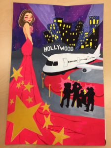 Tower Banner Artwork First Place Winner from Glendale Jennifer Bae