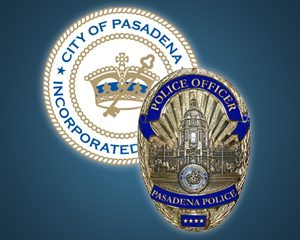 Image of City Seal and Badge of the Pasadena Police Department