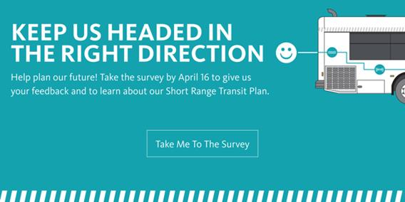 banner flyer announcement on the Pasadena Transit Survey