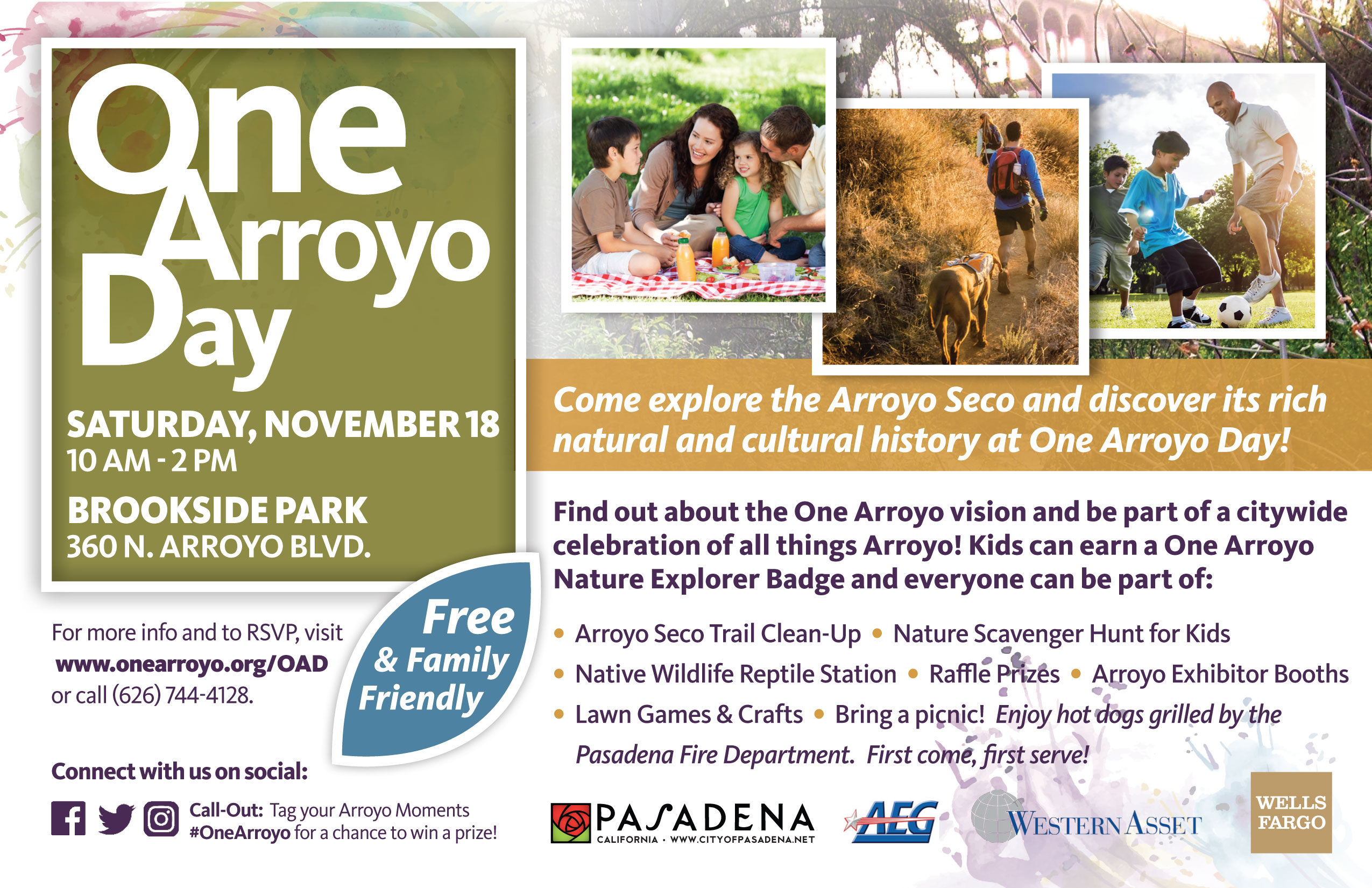 One Arroyo Day Flyer - November 18, 2017