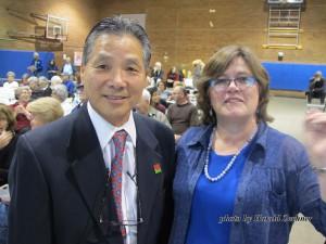 Vice Mayor Gene Masuda with Lucy Jones PhD