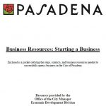 Business Resources: Starting a Business [PDF]