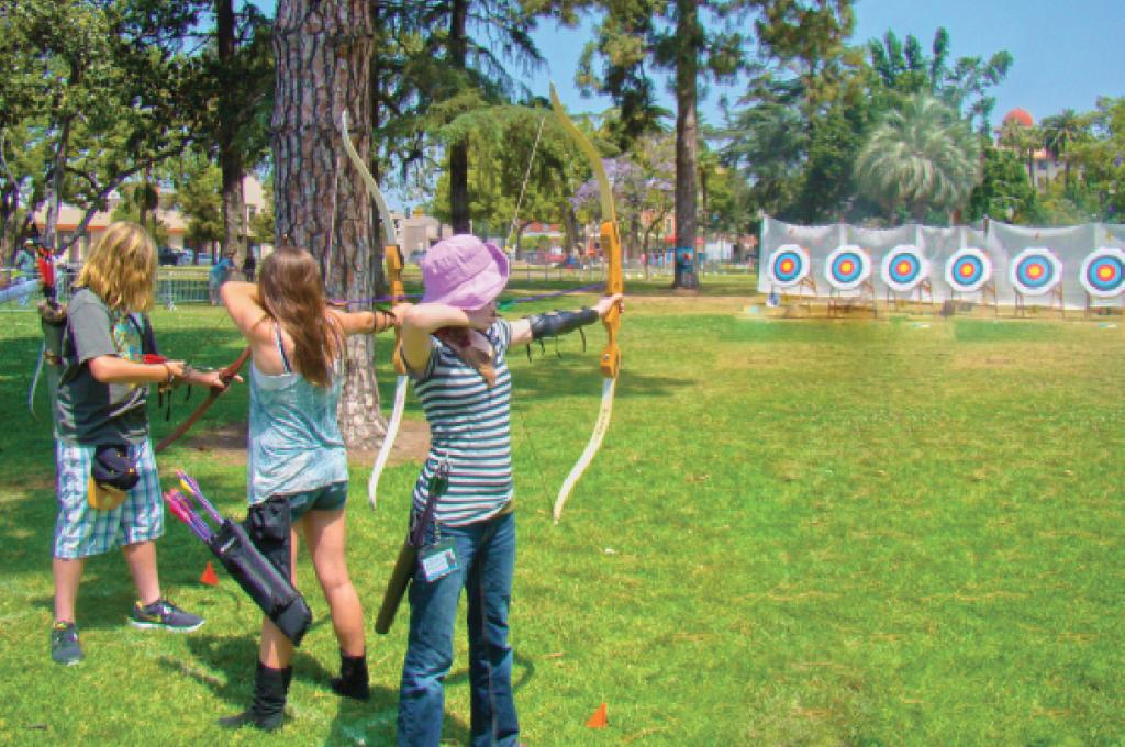 Archery at Arroyo Seco Adventures Camp
