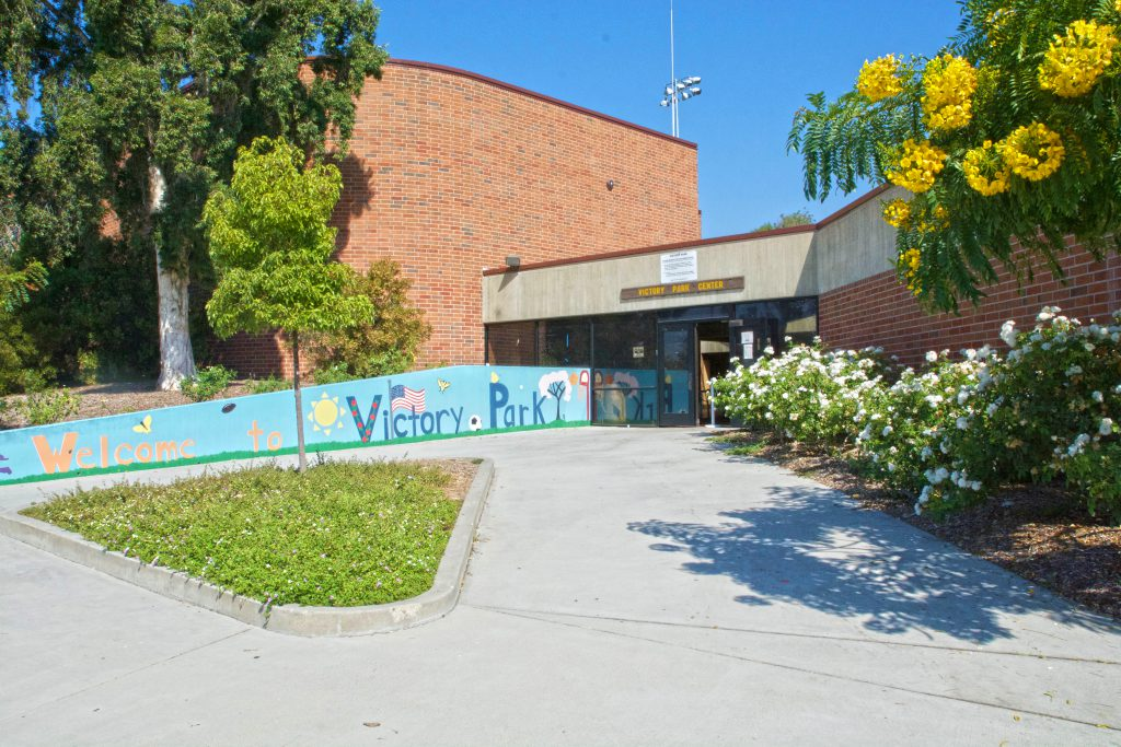 Image of the entrance of the Victory Park Recreation Center