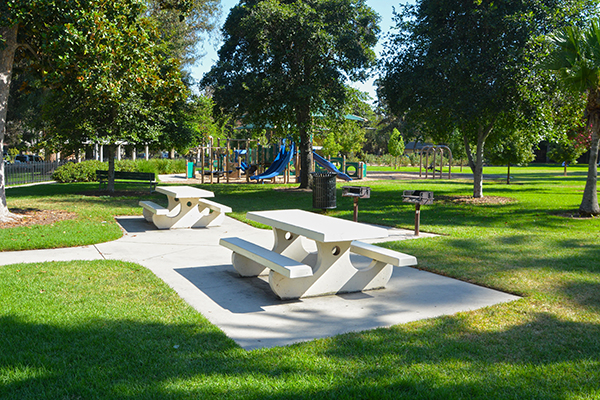 image of picnic area at Singer Park