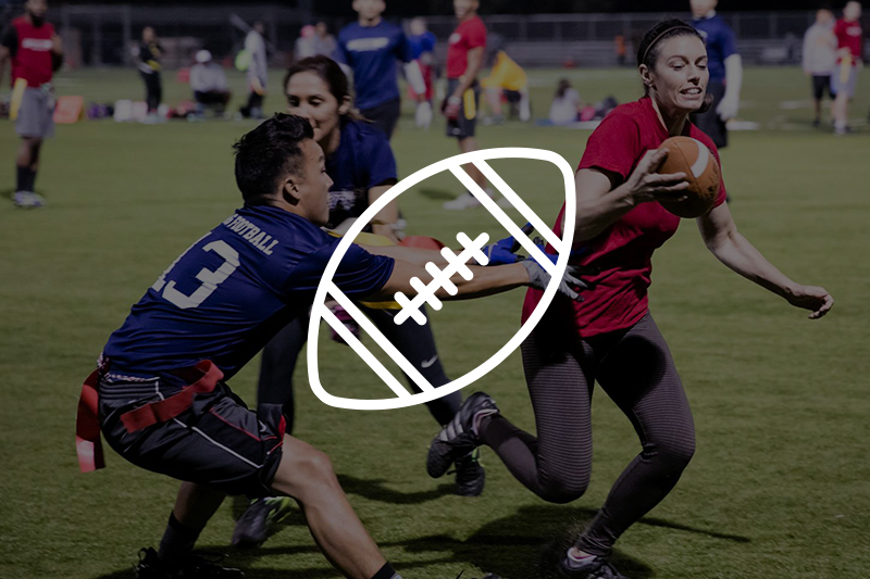 Image of adults playing flag football