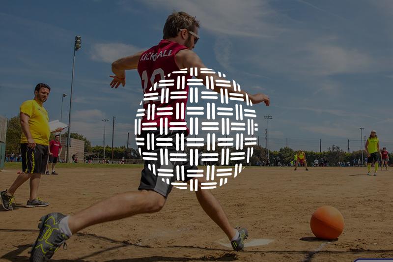 Image of a man kicking a ball