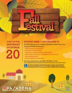 Fall Festival 2018 flyer design with fall themed colors
