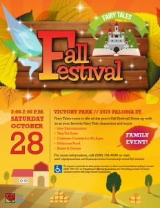 Fall Festival Fairytales 2017 flyer