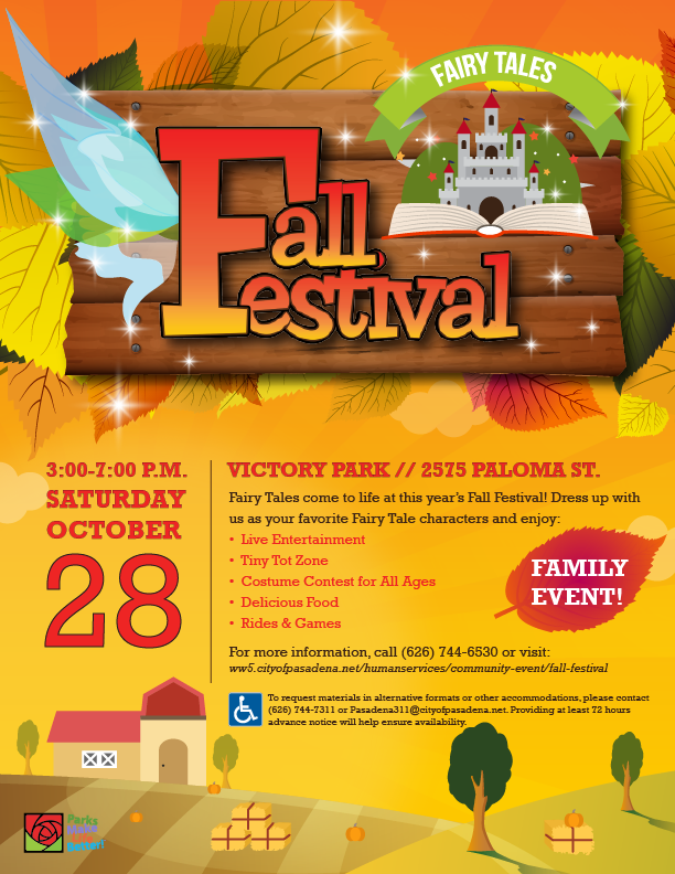Fall Festival Fairytales 2017 flyer