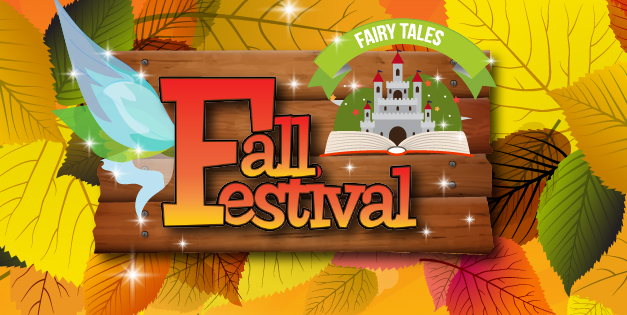 Fall Festival Banner with fall leafs and colors