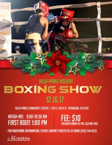 Holiday Boxing Show Flyer