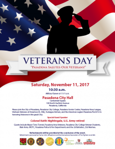 veterans day flyer with a silhouette of a veteran saluting the US flag