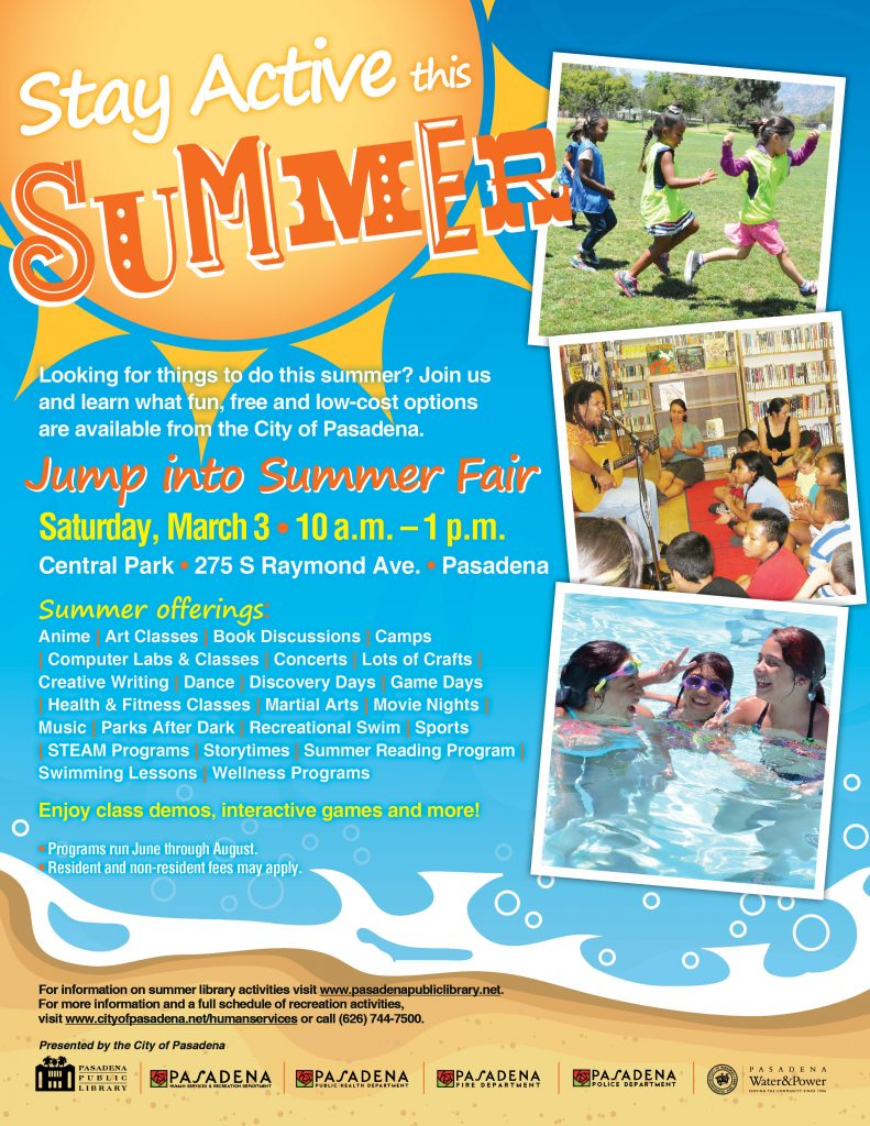 Stay Active this Summer flyer