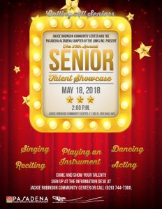 Senior Talent Showcase 2018 flyer