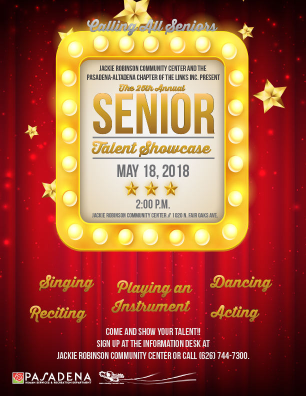 Senior Talent Showcase 2018 flyer