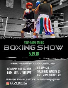 Spring Boxing Show 2018 flyer