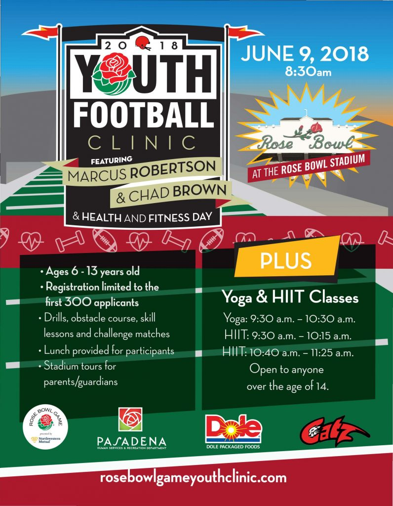 Youth Football Clinic Flyer 2018
