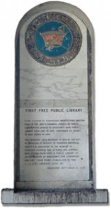 Pasadena Public Library Foundation Plaque
