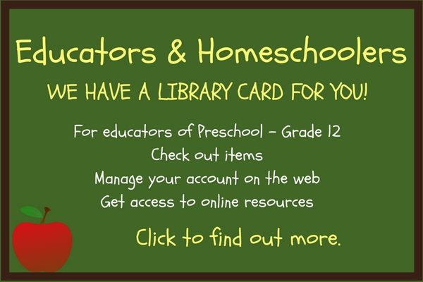 The library offers educators cards to Pasadena teachers.