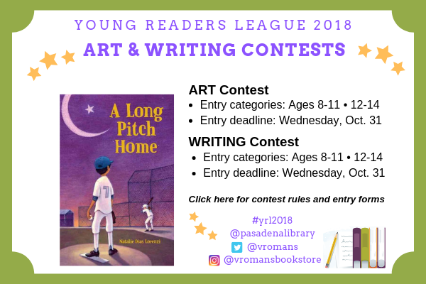 Young Readers League 2018 Art & Writing Contest entry forms