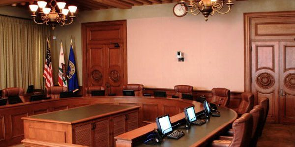 City Council Chambers Interior