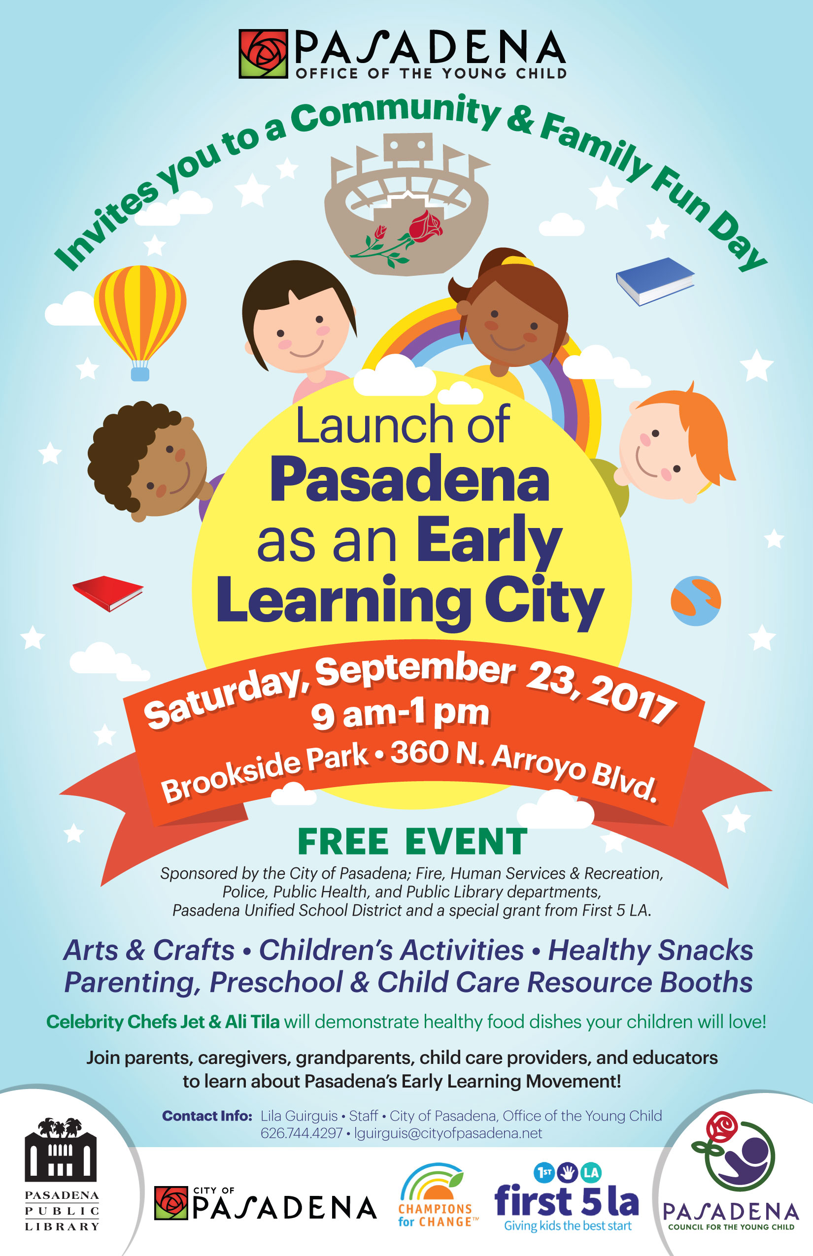 Launch of Pasadena as an Early Learning City, September 23 2017 - English