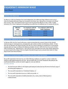 Minimum Wage Fact Sheet - April 2016