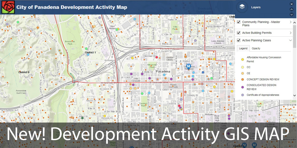 City of Pasadena Development Activity Map