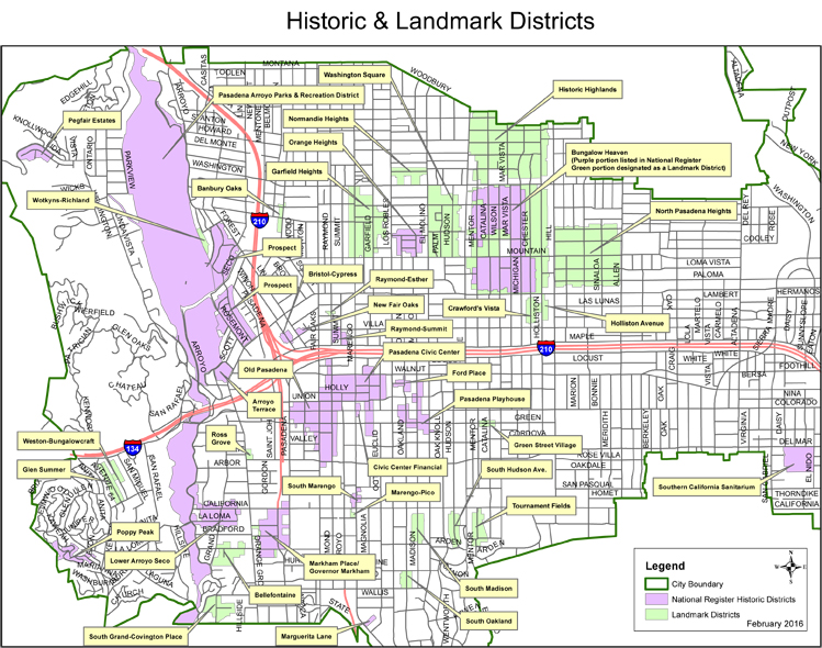 Historic and Landmark Districts Map