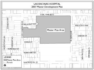 Las Encinas Hospital Map