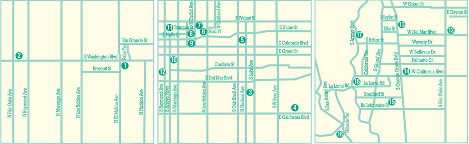 Mid-Century Modern Non-Residential Buildings Driving Tour Map